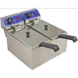 Friteuse à poser - sans robinet - capacité 8 + 8 L