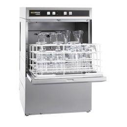 Lave-verres compact G404 sans adoucisseur d'eau - Simple paroi - 2 cycles