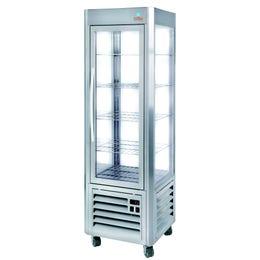 Vitrine réfrigérée - 3 faces vitrées + 1 porte vitrée - +2 à +10°C
