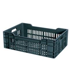 Caisse ajourée grise - 600x400x200 mm - 40L