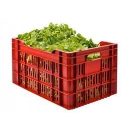 Caisse agricole ajourée - bordeaux - 40L - 600x400x200 mm