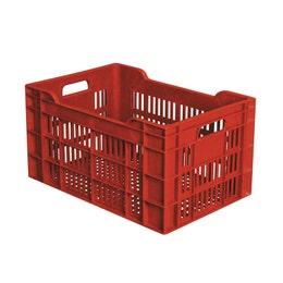Caisse agricole ajourée - bordeaux - 45L - 550x360x290 mm