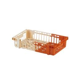 Caisse bicolore - ivoire/orange - 600x400x120 mm - 20L