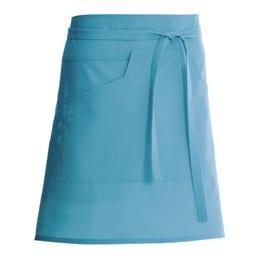 Tablier mixte Nell 45 bleu aqua - 65% polyester, 35% coton