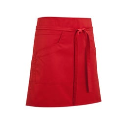 Tablier mixte Nell 45 rouge - 65% polyester, 35% coton
