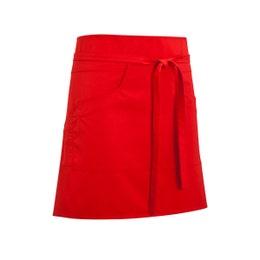 Tablier bavette mixte Dan 88 - Rouge - 65% polyester, 35% coton