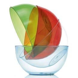 Saladier Cristal en copolyester rouge de 80cl - diam 150mm