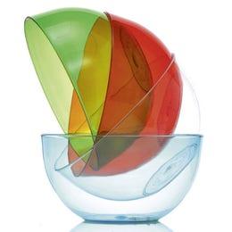 Saladier Cristal en copolyester vert de 80cl - diam 150mm