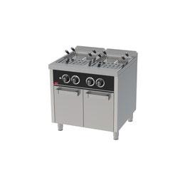 Cuiseur à pâtes à gaz 25l + 25l série 750 sur placard