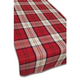 Set de table - Aspect laine - 33 x 43 cm - Grands carreaux rouges