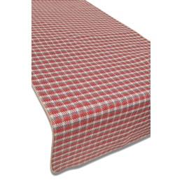 Set de table - Aspect laine - 33 x 43 cm - Petits carreaux rouges