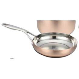 Poêle à frire - Cuivre et inox - Ø 28 cm - avec poignée