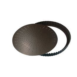 Tourtière perforée - Fond amovible - Diamètre 28cm