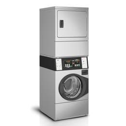 Colonne lavage/séchage (10kg) - monnayeur a jetons Gettonne 7K