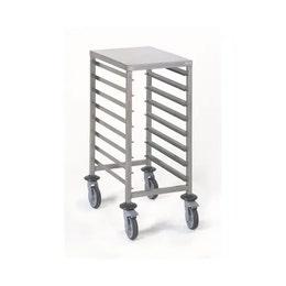 Chariot à glissières gastronormes - Soudé GN 1/1 8 niveaux