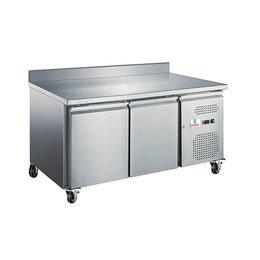 Table réfrigérée avec dosseret - 2 portes