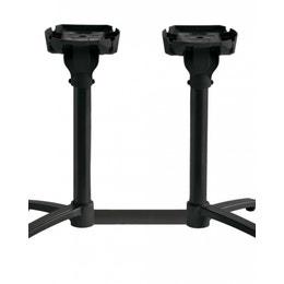 Pied de table mange-debout - double X-One - Noir