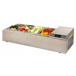 Vitrinette réfrigérée 4 bacs de 970 mm - Inox