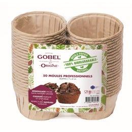 Moule à muffin en papier naturel - 7,2x4cm