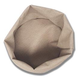 Panière ronde - Effet tissu - Diamètre 20 cm - Beige