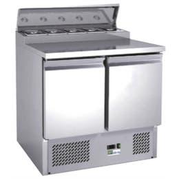 Saladette 2 portes froid ventilé +2 à +8 °C - 240 L