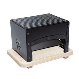Planchetta socle métal - A charbon de bois - 29x18x21,7 cm