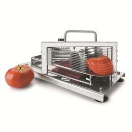 Coupe-tomates inox rondelles - 12 tranches épaisseur 5,5mm