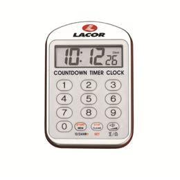 Minuteur de cuisine avec alarme - 4 niveaux sonores - Minuteur 24h