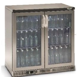 Maxiglass Noverta vitrine basse 2 portes battantes vitrées 250L - Inox - Ferrure à droite