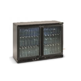 Maxiglass Noverta vitrine haute 2 portes battantes vitrées 275L - Anthracite