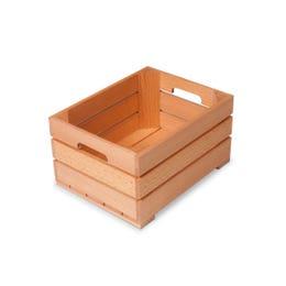 Panier de présentation en bois de hêtre - 13x17x9 cm