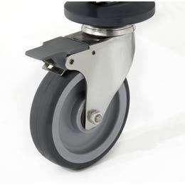 4 roues à chape inox dont 2 à frein - 150 x 150 x 200