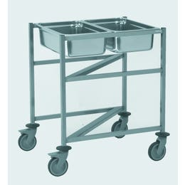 Cuvier gastronorme GN 2/1 mobile encastrable - 740 x 625 x 850