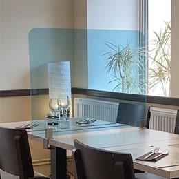 Séparateur de table - Plexiglas 4mm fumé - 80x60cm