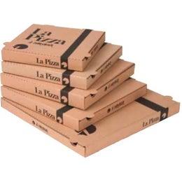 Boite à pizza kraft brun 260x260 mm 100P/C