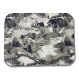 Set de table - Effet textile - 30 x 40 cm - Fourrure noire