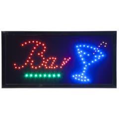 Enseigne led clignotante - bar - led rouge, bleu, vert, jaune