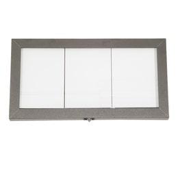 Porte-menus inox - Métallisé gris - A affichage LED - 3 formats A4