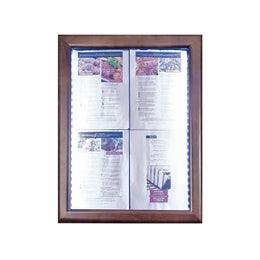 Porte menus LED Classic - Marron foncé - 4 pages A4