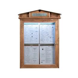 Porte menus LED Rustic - Finition laquée - Piètement non inclus