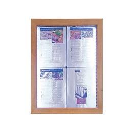 Porte menus LED Classic - Teck - 4 pages A4