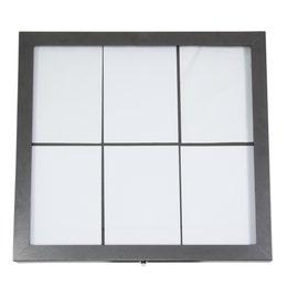 Porte-menus inox - Métallisé gris - A affichage LED - 6 formats A4
