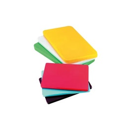 Planche à découper verte en polypropylène - 450x300x12,5 mm