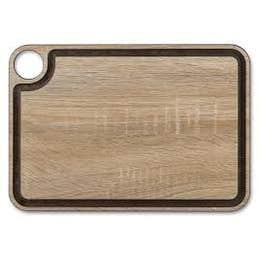 Planche à découper - bois - avec rigole - 33x23 cm