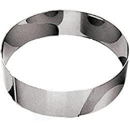 Cercle à mousse inox - 12 x 4,5 cm