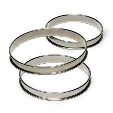 Cercle à tarte inox - 10x2,7 cm