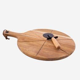 Planche de présentation et roulette à pizza 43,5x32,5x1,4 cm