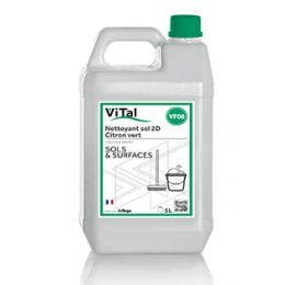 Nettoyant 2D neutre au parfum citron vert - Bidon de 5 L