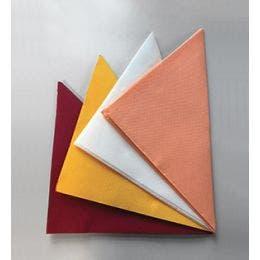 Serviette rouge, micro gaufrée avec 2 plis - 38x38cm