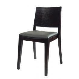 Chaise Milan - simili cuir graphite - structure en hêtre massif